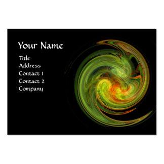 VÓRTICE LIGERO, amarillo-naranja verde negro vibra Plantilla De Tarjeta De Negocio