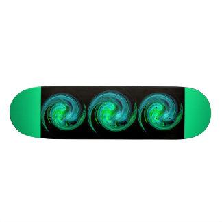 VÓRTICE LIGERO, verde azul negro Skate Board