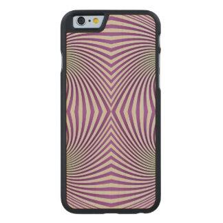 Vórtice púrpura funda de iPhone 6 carved® slim de arce