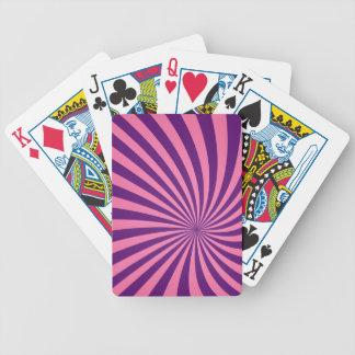 Vórtice púrpura rosado barajas de cartas