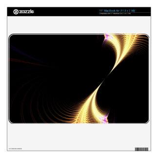 Vórtice púrpura surrealista del fractal MacBook air skin