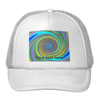 Vórtice que remolina multicolor al azar tejado gorra