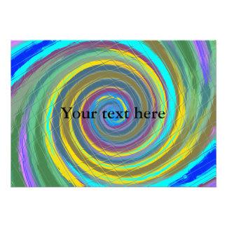 Vórtice que remolina multicolor al azar tejado comunicado personal