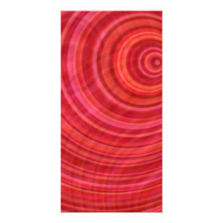 Vórtice rojo tarjeta personal con foto