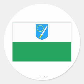 Võru Flag Classic Round Sticker