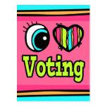 Votación brillante del amor del corazón I del ojo Postales