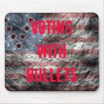 Votación con el retraso Mousepad de las balas Alfombrilla De Ratones