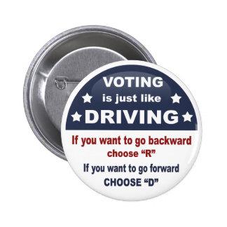 Votación - conduciendo pin redondo de 2 pulgadas