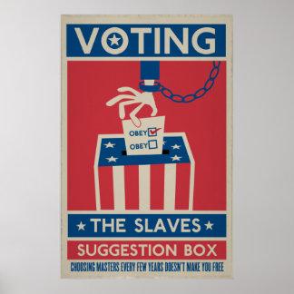 Votación de su impresión póster