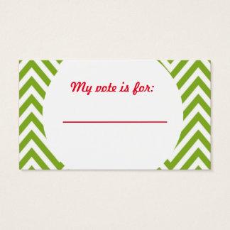 Votación de votación de la fiesta de Navidad fea Tarjeta De Negocios