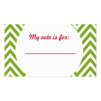 Votación de votación de la fiesta de Navidad fea Tarjetas De Visita