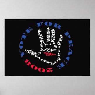 Votación por la paz 2008 poster
