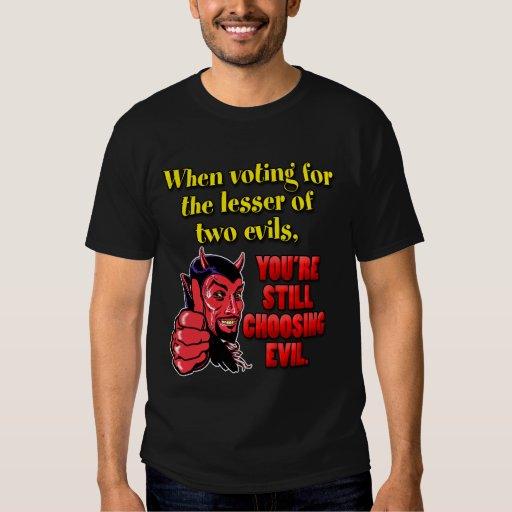 Votación por menos de dos males remeras