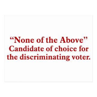Votación por ningunos de los 2 antedichos postal