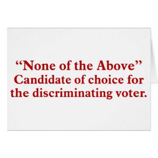 Votación por ningunos de los 2 antedichos tarjeta de felicitación