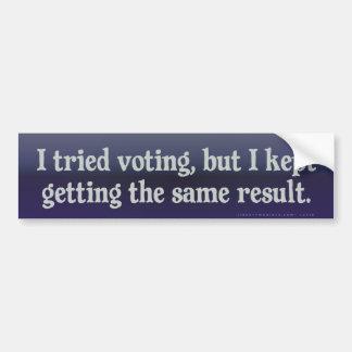 Votación probada, la misma pegatina para el parach pegatina para auto