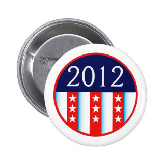votación roja y azul del sello 2012 de la elección pin redondo de 2 pulgadas