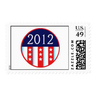 votación roja y azul del sello 2012 de la elección