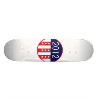 votación roja y azul del sello 2012 de la elección tablas de skate
