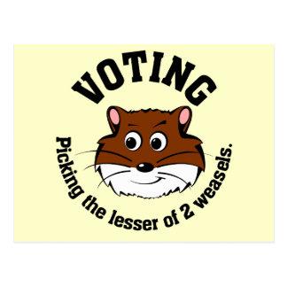 Votación - selección menos de dos males postal