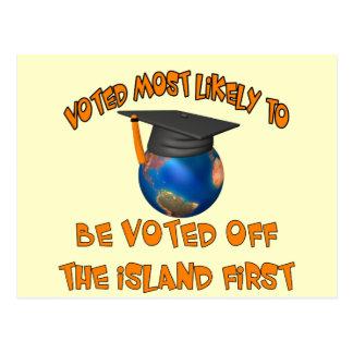 Votado apagado la isla tarjeta postal