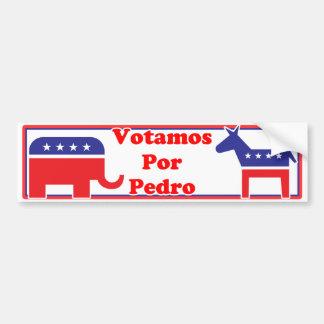 Votamos Por Pedro Bumper Sticker