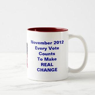 Votante avergonzado de Obama Taza De Dos Tonos