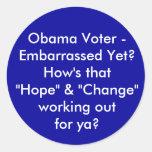 ¿Votante de Obama - desconcertado todavía? Cómo es Pegatina Redonda