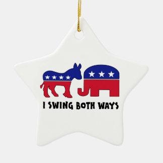 Votante de oscilación republicano Democratic (2) Ornamente De Reyes