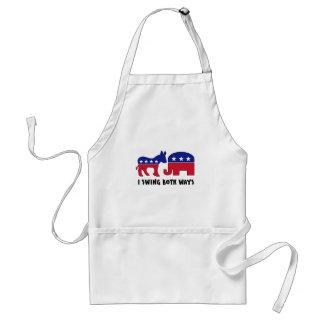 Votante de oscilación republicano Democratic (2) Delantal
