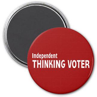 Votante de pensamiento independiente imán de frigorifico