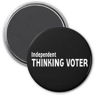 Votante de pensamiento independiente iman de nevera