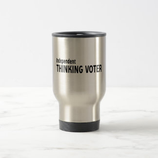 Votante de pensamiento independiente taza de viaje