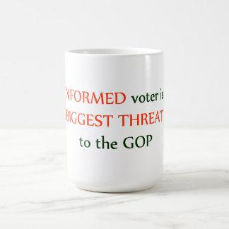Votante informado taza de café