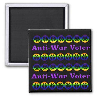 Votante pacifista imán cuadrado