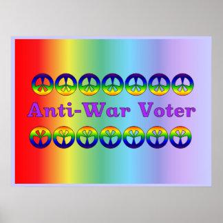 Votante pacifista poster
