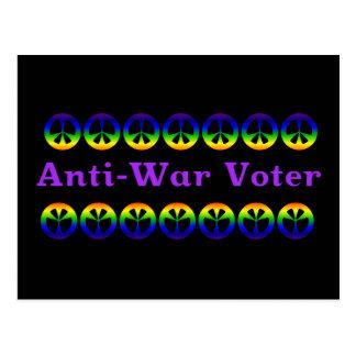 Votante pacifista tarjeta postal