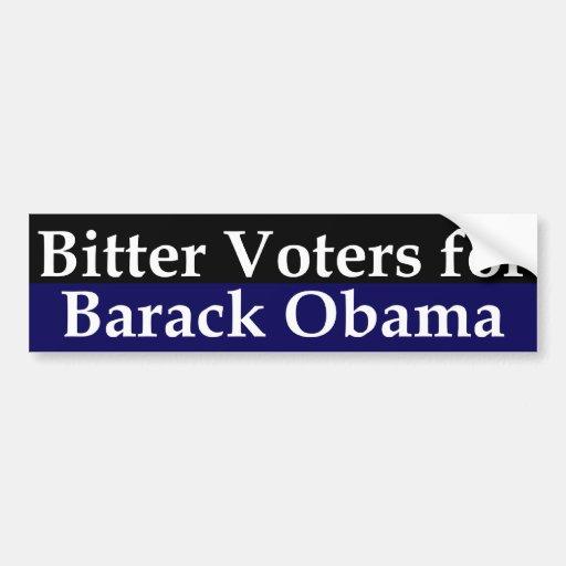 Votantes amargos para la pegatina para el parachoq pegatina para auto