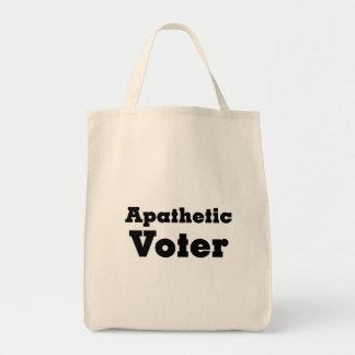 Votantes apáticos amonestadores a continuación bolsa lienzo