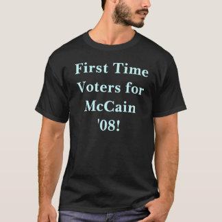¡Votantes de la primera vez para McCain '08! Playera