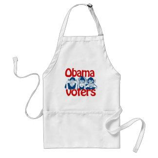Votantes de Obama Delantal
