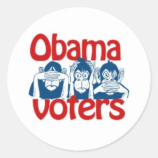 Votantes de Obama Pegatina Redonda
