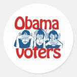 Votantes de Obama Pegatinas Redondas