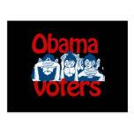Votantes de Obama Tarjetas Postales