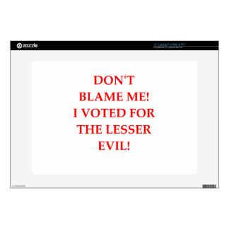 "VOTE 15"" LAPTOP SKINS"