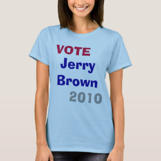 VOTE , 2010, Jerry Brown T-Shirt