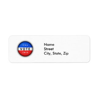 Vote 2010 label