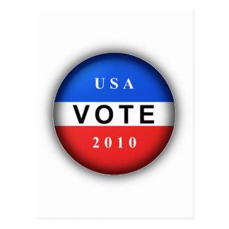 Vote 2010 postcard