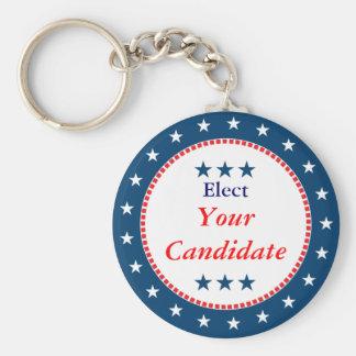 Vote 2012 Election Basic Round Button Keychain