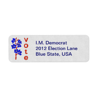 VOTE 2012 LABEL